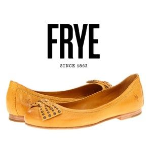 Frye Carson Bow Ballet Flat Antique Yellow, 8.5